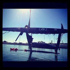 USA-17 returning to proper position. #downbutnotout #oracleteamusa #americascup
