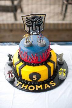 Transformers Birthday Card : Transformers Birthday Party Food Cake ... Transformers Birthday Parties, 6th Birthday Parties, Birthday Ideas, Transformer Birthday, Transformer Cake, Jake Cake, Cool Birthday Cakes, Happy Birthday, Fancy Cakes