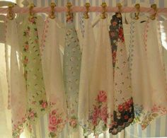 I have several of my aunt's handkerchiefs that I would like do display.  This would be a very unique idea.  Hmmmmm....