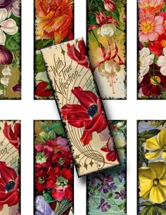 Digital Collage Sheet Microscope Slides  by VintageImagesInTime,