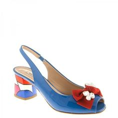 6052 Marino Fabiani Sandals ($495) ❤ liked on Polyvore featuring shoes, sandals, blue sandals, leather sole shoes, blue shoes, multicolor shoes and multi color shoes