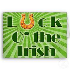 #irish #horseshoe #green #lucky #stpatricksday #stpattysday #greetingcards by #mgdezigns