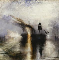 The silent acceptance of Death with 'Burial At Sea' JMW Turner 1842.