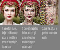 Sticking pins in your face to create a pin portrait, very interesting structable from digitalArtform. Perler Bead Art, Perler Beads, Push Pin Art, Diy And Crafts, Arts And Crafts, Portrait Art, Portraits, Color Portrait, Looks Cool