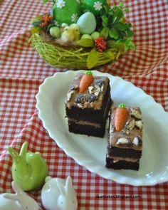 ciasto kakaowe z marchewkami