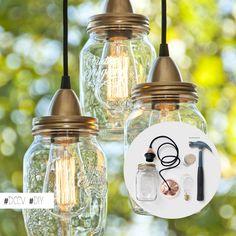 Un #diy facile pour fabriquer vous même des lampes originales par @Tom John Cole…