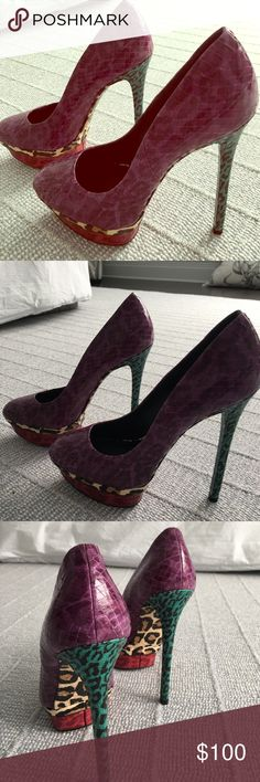 Brian Atwood pumps Multi color high heeled Brian Atwood pumps..gorg!! On tradsey for 170 B Brian Atwood Shoes Heels