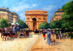 'A Sunny Day In Paris' by Georges Stein. Oil painting from www.globalwholesaleart.com