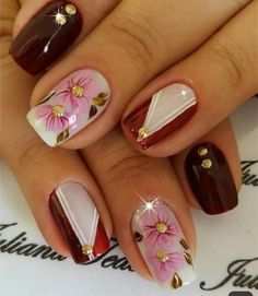 Birthday Nails, Manicure And Pedicure, Toe Nails, Nail Designs, Nail Art, Beauty, Jewelry, Nail Arts, Nice Nails