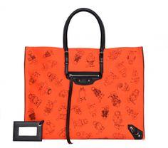 Check out the new Balenciaga Pumpkin Papier tote that was designed by Grace Coddington. Would you shop for this limited-edition Balenciaga bag? Grace Coddington, Balenciaga Bag, Balenciaga Handbags, Natalie Portman Dior, Sacs Design, Cat Bag, Fashion Night, Purses, Orange