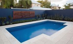 Swimming Pool Designs by Leisure Pools Pool Paving, Swimming Pool Landscaping, Small Backyard Pools, Small Pools, Swimming Pool Designs, Grey Paving, Backyard Landscaping, Landscaping Ideas, Pool Spa
