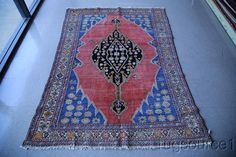 Pre-1900 Collectible Antique 5x6 Hamedan Persian Oriental Area Rug Wool Carpet #Persian