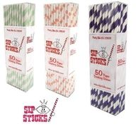 Sipsticks! Add some flare to your next party, grill out, picnic, or baby shower with these rad retro straws!