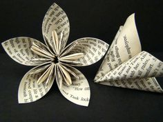 i can totally do this! and i love that you can use recycled book pages...mmm nerdy flowers ;D