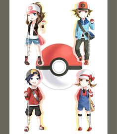 Pokemon Trainers Chibis by Akimiya.deviantart.com on @deviantART