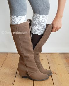 Grace and Lace - Stretch Lace Boot Cuffs, $19.99 (http://www.graceandlace.com/all/stretch-lace-boot-cuffs/)