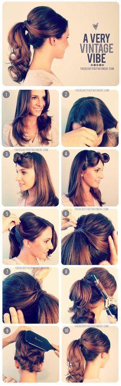 retro vintage ponytail tutorial
