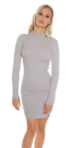 Online Lareinadeparis Vestido Moda Vestidos De En Comprar Punto Acanalado Gris zR0dSSxqw