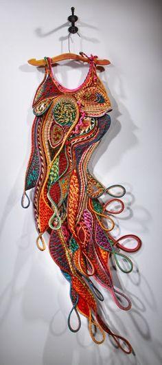 "Peggy Wiedemann da IL RAMO D'ORO ""Fiber Art - Textile Art"" http://ilramodoro-katyasanna.blogspot.it/2013/12/fiber-art-texile-art.html"