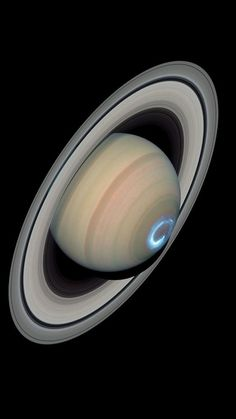Auroras on Saturn, captured by the Hubble Telescope.