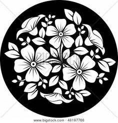 Illustration of White flower ornament on a black background illustration vector art, clipart and stock vectors. Free Cliparts, Bordado Popular, Flower Ornaments, Vector Flowers, Illustration, Black And White Pictures, Flower Pictures, Vector Art, Vector Stock