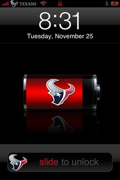Houston Texans - Change your iPhone appearance using your favorite team's logo. Houston Texans Football, Houston Astros, Denver Broncos, Bulls On Parade, H Town, Football Season, Cincinnati Bengals, Indianapolis Colts, Texas Things