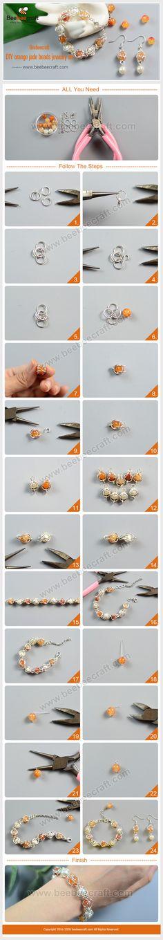 Bracelet Crafts, Jewelry Crafts, Handmade Jewelry, Beaded Bracelets, Jewelry Making Tutorials, Jewelry Making Supplies, Bee Crafts, Sewing Crafts, Jade Jewelry