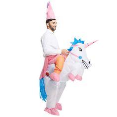 Inflatable Unicorn Costume Halloween Party Fancy Costume Inflatable Costume For Adults To Send Hat