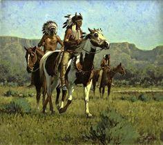Tony Eubanks (1939- )-'horsemen of glories past'