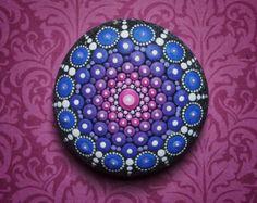 Jewel Drop Mandala Painted Stone- Giant Sea Urchin