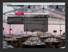 Website for a catering company by Dominika Gorecka, via Behance