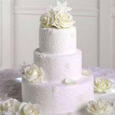 #Winter #Wedding #Cake - Looks Like Snow