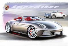 Porsche Speedster sketch