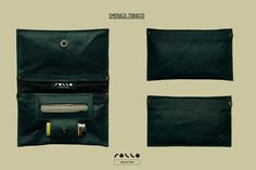 Porta tabacco in pelle made in Italy, soft vintage bag tobacco green emerald pochette