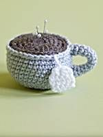 Amigurumi Tea Cup Pincushion   Keep your spare pins in this adorable tea cup.  Image of Amigurumi Tea Cup Pincushion Free Pattern Skill Level:  Easy Size: One Size Craft: Crochet Pattern #: 80219AD