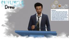 Custom CAS Trait: Politician at Drew Shivers via Sims 4 Updates