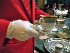 High Tea in Buenos Aires, white gloved service