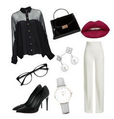 classy lady by www-cingo on Polyvore featuring polyvore fashion style Gucci Brandon Maxwell Louis Vuitton Tory Burch CLUSE Blue Nile EyeBuyDirect.com Huda Beauty clothing