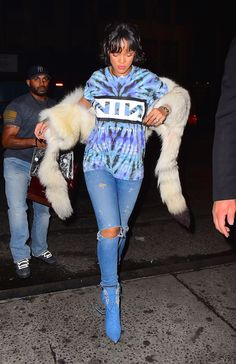 Rihanna and Leonardo DiCaprio at Up and Down Nightclub in NYC