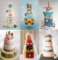 #Character #Movie Themed #Wedding #Cakes Mood Board from The Wedding Community