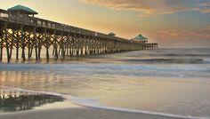 The beautiful fishing pier on Folly Beach, South Carolina. Find your Folly at TidesFollyBeach.com