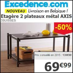 #missbonreduction: Economisez 50 % sur l'Etagère 2 plateaux métal AXIS 3SUISSES. http://www.miss-bon-reduction.fr//details-bon-reduction-Excedence-i246-c1828271.html