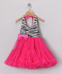 Take a look at this Hot Pink Zebra Dress - Infant, Toddler & Girls by Safari Style: Kids' Apparel & Shoes on #zulily today!