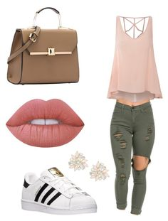 Untitled #1 by jerriyah-alanasia on Polyvore featuring polyvore, fashion, style, Glamorous, adidas, Cara, Lime Crime and clothing