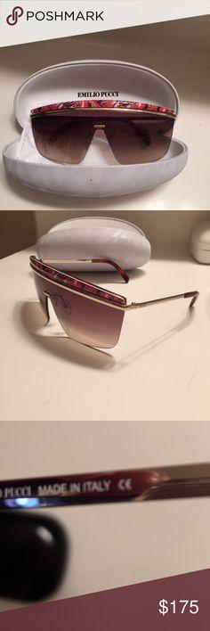 Emilio Pucci EP 7 sunglasses Emilio pucci ep 7 sunglasses with case and cloth: excellent condition Emilio Pucci Accessories Sunglasses