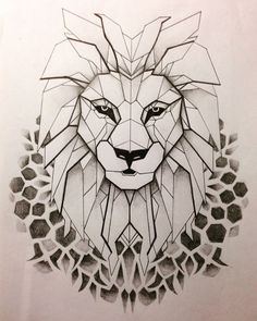 lion abstract drawing - Google Search