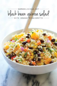 Black Bean Quinoa Salad - with orange vinaigrette