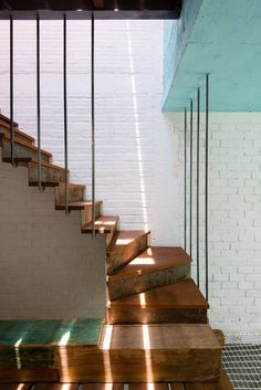 Staircase with light filtering in