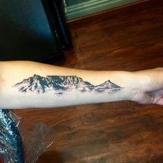 I loved doing these mountains today! Table Mountain in Cape Town  #art #tattoo
