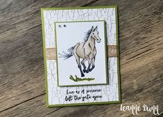 Stampin' Up! Let It Ride Card - 2019 Occasions Catalog - Card Created by Pine Hollow Paper Design Horse Cards, Bath Bomb Gift Sets, Scrapbook Paper Crafts, Scrapbooking, Stamping Up Cards, Animal Cards, Cards For Friends, Tampons, Masculine Cards